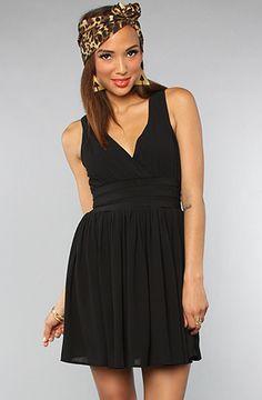 #karmaloop #soshoeme  Use rep code:XLOOP for 20% off  Retail:$92.00  The Sandrine Crinkle Chiffon Deep V #Dress by BB Dakota