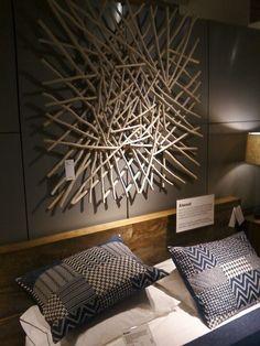 Awesome Driftwood Art Pieces stick art above bed Art Mural 3d, 3d Wall Art, Wooden Wall Art, Art 3d, Diy Wand, Diy Wall Decor, Diy Home Decor, Mur Diy, Twig Art
