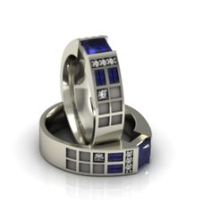 Police Box Ring - Art & Gems Jewelers - High End Geek Jewelry    I seriously need this... you don't know!