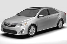 2012 Toyota Camry 3D Model- Modeled in 3DS Max 8. Max model has meshsmooth modifier intact (49841 polys).  All other models are exported with meshsmooth iteration collapsed at 1 (196690 polys)  Rendered using 3DS Max 8's Mental Ray renderer. No other plugins required. Photoshop corrections applied. - #3D_model #Vehicles 3d Models,#Automobile,#Sedan