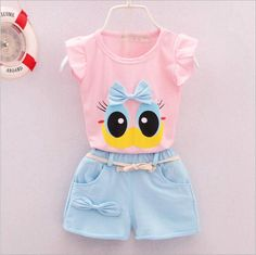 Fashion Brand Summer Infant Baby Girls Clothes Sports Lovely Long Eyelashes Toddler Girl tops Pants Girls Suit Kids Clothes - Kid Shop Global - Kids & Baby Shop Online - baby & kids clothing, toys for baby & kid Baby Outfits, Toddler Outfits, Kids Outfits, Fashion Kids, Baby Set, Baby Baby, Baby Shop Online, Summer Suits, Summer Vest