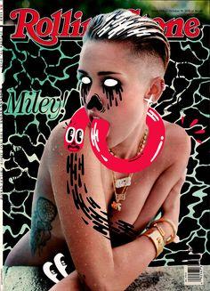 Hattie Stewart - Rolling Stone - Miley Cyrus (October / Prints / No Walls Gallery, Brighton Cover Art, Illustrations, Photo Illustration, Photography Illustration, Concert Rock, Magazin Covers, Gq, Design Art, Graphic Design