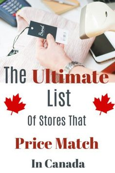 Ultimate List of Canada Stores that Price Match! - Canadian Made. Save money with knowing which Canada stores will price match to save you MONEY! Match List, Canadian Gifts, Money Today, Save Your Money, Above And Beyond, Shopping Sites, Save Yourself, Simple Living, Money Tips