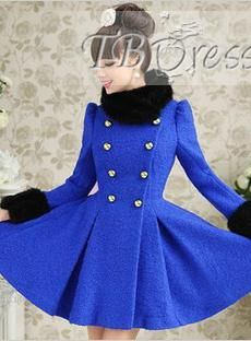 Perfect Double-breasted Woolen Nipped Waists Overcoat