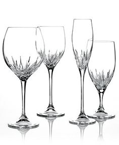 6 large wine glasses - Vera Wang Wedgwood Duchesse Stemware Collection