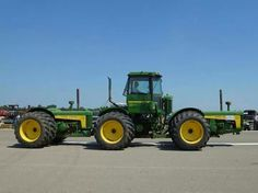 Three (3) John Deere 830's connected and articulating.   http://www.youtube.com/watch?v=jS9x7lxYyTc