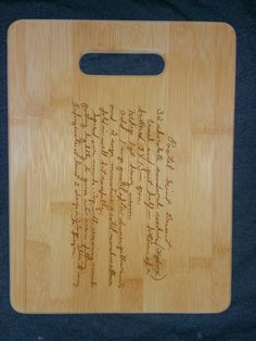 Custom engraved cutting board for the Stephsnie Lynn from 3DCarving on Etsy