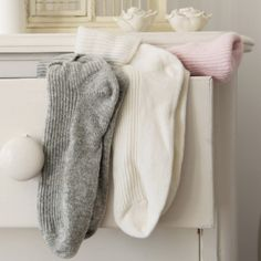 Cashmere Bed Socks - Slippers   The White Company