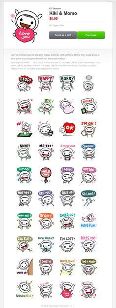 LINE Sticker-Kiki & Momo