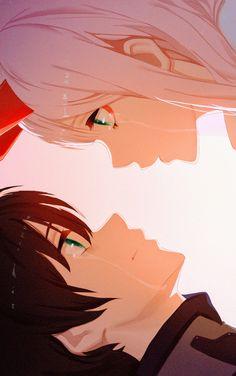 Zero Two amp Hiro Liebling im FranXX Zerotwo hiro darlinginthefranx Anime Neko, Kawaii Anime Girl, Otaku Anime, Anime Art Girl, Manga Anime, Anime Love Couple, Cute Anime Couples, Anime Couples Manga, Anime Comics