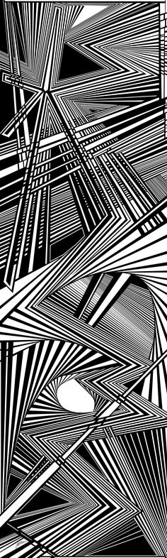 whispering thoughts - Dynamic black and white optical obsession, organic abstract by Douglas Christian Larsen - http://fineartamerica.com/featured/whispering-thoughts-douglas-christian-larsen.html