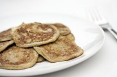 Two Ingredient Banana Pancakes - Ridiculously easy breakfast. 1 banana + 2 eggs = the perfect breakfast for 1 toddler and 1 mama.