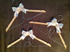 Personalized bridesmaid hanger, handmade, wedding ideas, bridesmaid dress, hanger, crafts, gift ideas, bridal party Bridesmaid Hangers, Bridesmaid Dresses, Bridesmaids, Hanger Crafts, Wedding Day, Hair Accessories, Bridal, Handmade Wedding, Christmas Ornaments