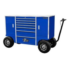 Extreme Tools 70 in. 7-Drawer 2-Compartment Pit Box with Stainless Steel Work…