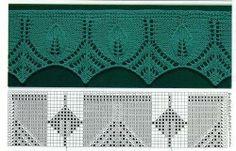 Grafico punto Types Of Knitting Stitches, Knitting Stiches, Crochet Stitches Patterns, Knitting Charts, Lace Patterns, Knitting Yarn, Hand Knitting, Stitch Patterns, Knit Edge