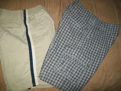 size 7 boys SHORTS lot of 2 solid & plaid