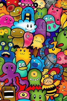 Rainbow cartoons
