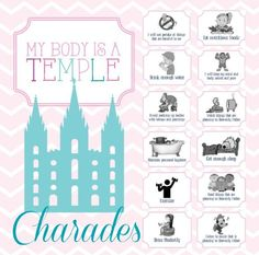 My Body Is A Temple – Activity Days, Sharing Time, Family Home Evening, Sunday School Mon corps est un temple