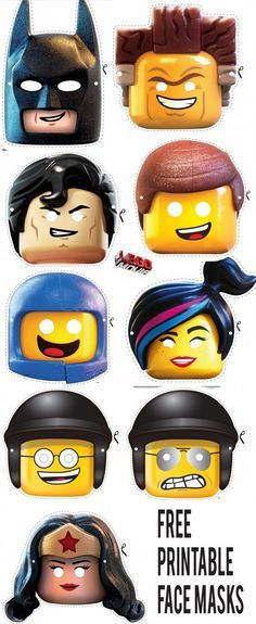 Access printable pdf's of these LEGO Movie Character Face Masks Here...                                                                                                                                                      More