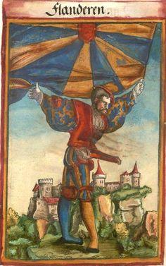 """Flandern [Flanderen] (f°144) -- Koebel, Jacob, """"Wapen des heyligen römischen Reichs teutscher Nation"""", Franckfurth am Main, 1545 [BSB Ms. Rar. 2155]"""