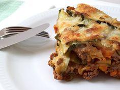 Parmigiana italienne de courgettes.