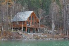 log cabin and water ,my future one dayyy
