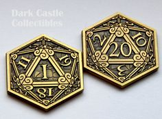 d20 Crits or Fails Coin for RPG Gaming Campaigns