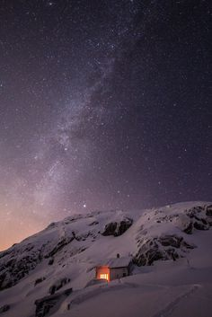 The Milky Way above Demmevass (sort of close to Ulvik) - Norway