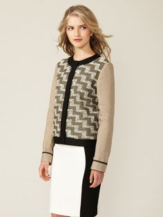 YES! Printed Tweed Jacket by Derek Lam on Gilt.com