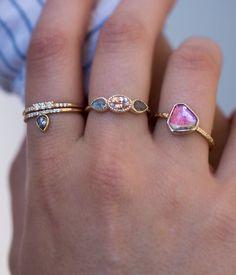 Morganite Iris Ring - Audry Rose