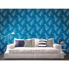 EDIE FROSTED TEAL - Wallpaper Idea