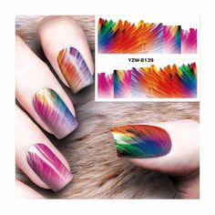 [Visit to Buy] FWC National Fashion Pattern Water Nail Art Stickers 2017 Decals For Beauty  8139 #Advertisement