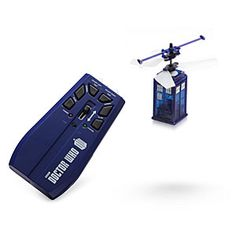 ThinkGeek :: Doctor Who R/C Flying TARDISYou provide the *vworp vworp*  One small TARDIS, coming right up. No, really. Give us a second to maneuver it just right and .... there. TARDIS delivery service at your service.
