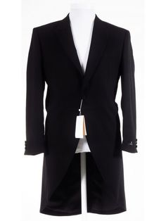 Masonic Formal Attire - Black Tailcoat - Lightweight Wool - RRP - Our Price Morning Coat, Morning Suits, Men Formal, Formal Wear, Dinner Suit, Frock Coat, Cutaway, Black Wool, How To Wear