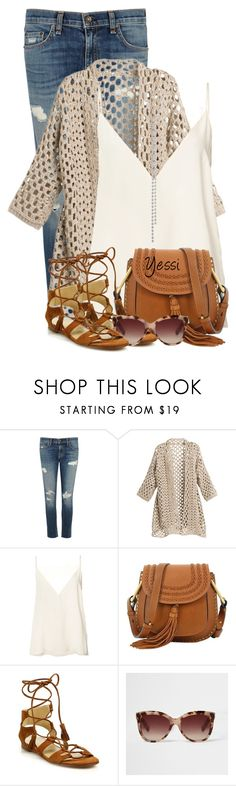 """""""~ 💕 Tassel Bag & Shoes 💕 ~"""" by pretty-fashion-designs ❤ liked on Polyvore featuring rag & bone/JEAN, Anine Bing, Chloé, Stuart Weitzman, River Island and Stephan & Co."""