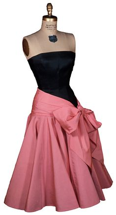 Stunning Evening Dress by Norman Norell Dress, 1950. Henry Art Gallery, transfer from The Brooklyn Museum