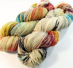 SW Sock 80/20 : Super soft luxury sock yarn dyed using professional acid dyes. This listing is for one skein. Specs: 80/20: Superwash Merino -