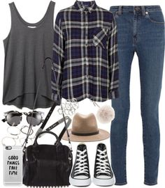 styleselection:  Outfit for college by ferned featuring a fedora...