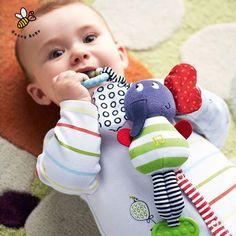 Gajah Mainan Bayi Mainan musik Pendidikan Mainan Teether Bayi Mewah Stroller Boks Mobil Menggantung Mainan Kerincingan Bayi Ponsel Mainan Busa