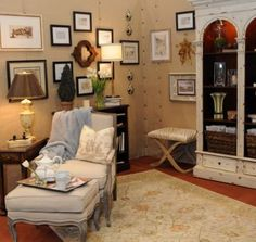 Lee Meier Interiors     French Coutry Inspired Sitting Room