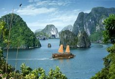 The Halong Bay is one of the most amazing places you would go to on planet earth. (Viet Nam)