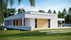 Projekt domu HomeKoncept-73 174,27 m2 - koszt budowy - EXTRADOM Best House Plans, Modern House Plans, Architect Design House, Plans Architecture, Unique House Design, My Dream Home, Planer, Bungalow, Beach House