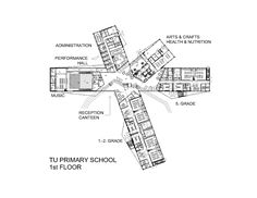 Image 16 of 20 from gallery of Tu Primary School  / Alliance arkitekter. First Floor Plan