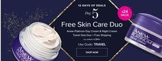 Avon 12 Days of Deals - Day 5 - Free Skin Care Duo - Anew Platinum Night Cream and Day Cream in convenient travel sizes + Free Shipping with a $45+ purchase.  Use code: TRAVEL   Shop: www.youravon.com/sandrawg