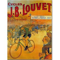 Trademark Fine Art Cycles J.B. Louvet Canvas Art by Wendra, Size: 14 x 19, Multicolor