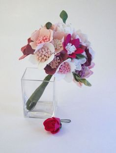 Фетровые цветы. Идеи