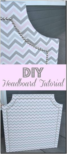diy headboard DIY Upholstered Headboard Tutorial, step-by-step instructions for this easy to make headboard. Use MDF, batting, and fabric to make this easy upholstered headboard Girls Headboard, Dorm Room Headboards, Headboard Ideas, Dorm Rooms, Diy Upholstered Headboard, Diy Fabric Headboard, Stencil Fabric, Do It Yourself Organization, Dorm Organization