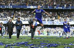 3 May 2015: After beating Crystal Palace 1-0 at Stamford Bridge, CHELSEA secure the 2014-15 Premier League title...