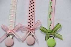 Pacifier Clip Wiht a Bow  Baby Girl  Pacifier Clip by SouthernA