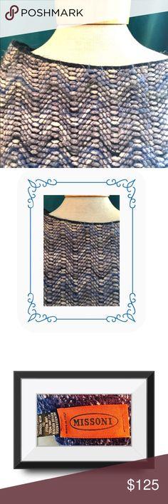 ⚜️Missoni poncho⚜️ Missoni means Italian intricacy in knits. Powder blue with darker cobalt hues Missoni Sweaters Shrugs & Ponchos